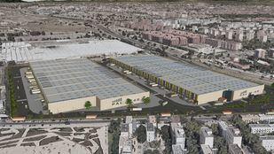 Recreación de la nueva plataforma logística que se está construyendo en Villaverde.