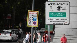 Señalización de Madrid Central.