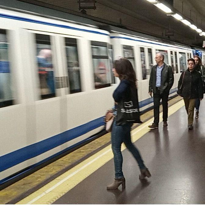 Estación de Metro de Madrid.