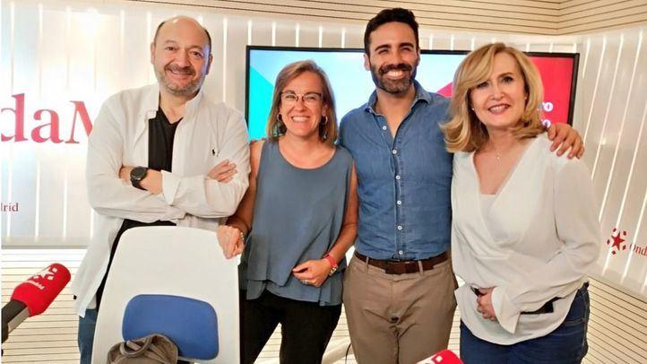 Sergio Brabezo y Puri Causapié en Com.Permiso junto a Nieves Herrero y Constantino Mediavilla.