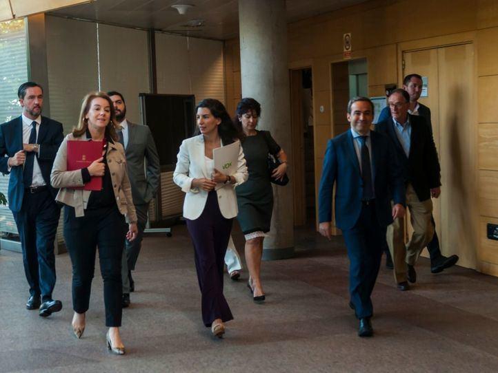 Rocío Monasterio, antes de exponer sus líneas rojas para apoyar la investidura de Isabel Díaz Ayuso.