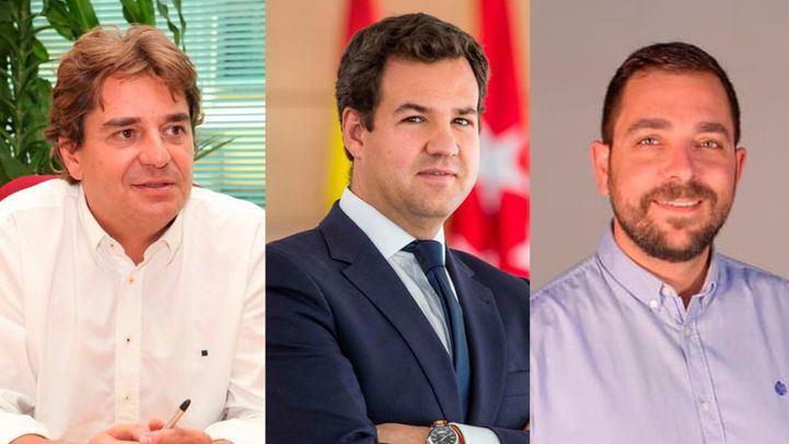 Los alcaldes Javier Ayala, José de la Uz y Sergio Parra; esta tarde en Com.Permiso.