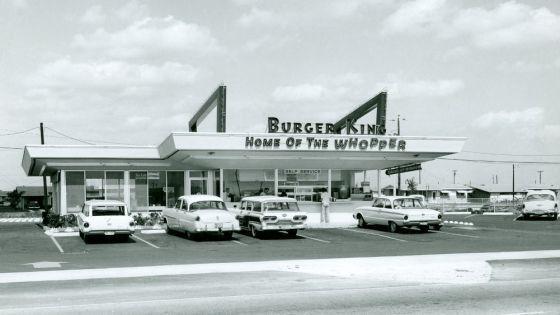 Imagen del primer Burger King que abrió en Miami (Estados Unidos) en 1954.
