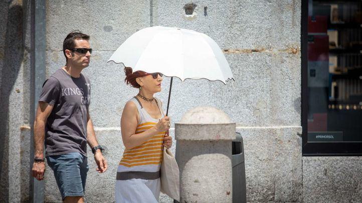 Ola de calor en Madrid.