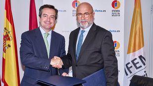 El Director General de IFEMA, Eduardo López Puertas y el Presidente de Spain Film Commission, SFC, Carlos Rosado.