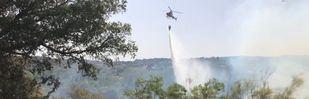 Más de 1.300 hectáreas calcinadas en Madrid por un incendio en Almorox (Toledo)