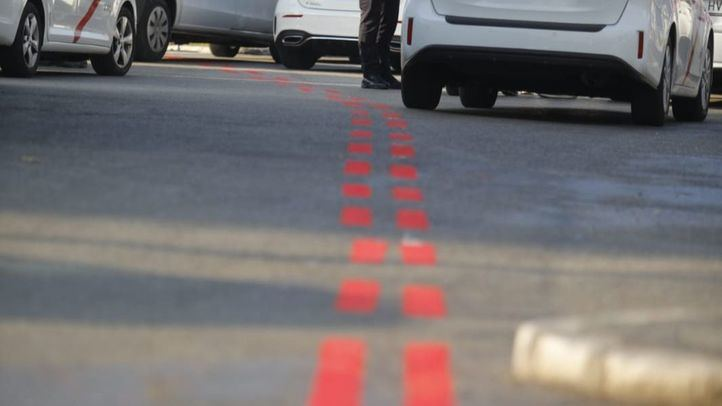 Línea roja que delimita Madrid Central.