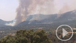 El incendio de Almorox-Cadalso, todavía activo