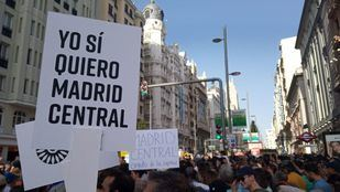 Manifestación a favor de Madrid Central
