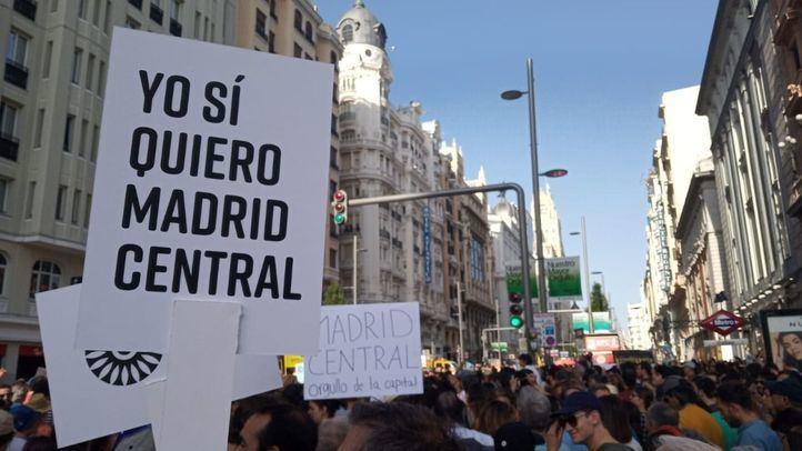 Manifestación a favor de Madrid Central