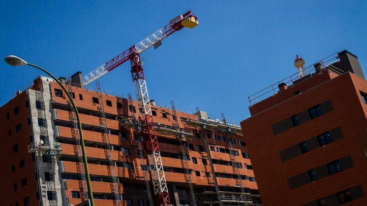 Construcción de vivienda nueva en Madrid.