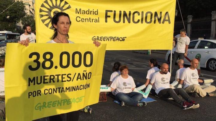 Protesta de Greenpeace por Madrid Central