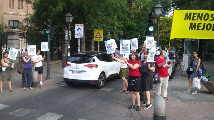 Piquetes informativos en defensa de Madrid Central.