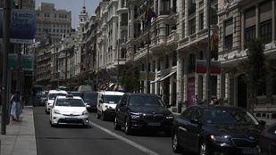 Tráfico durante el primer día de moratoria en Madrid Central.