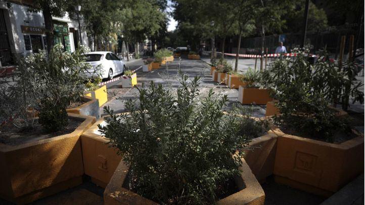 Retirados bancos y jardineras para revertir la peatonalización
