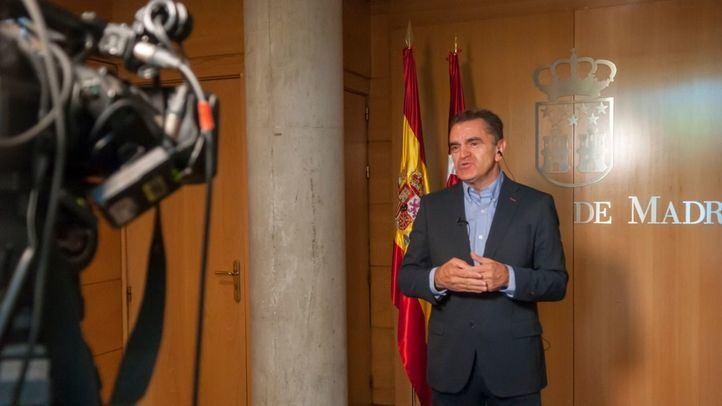 El secretario general del PSOE de Madrid, José Manuel Franco, en la Asamblea.