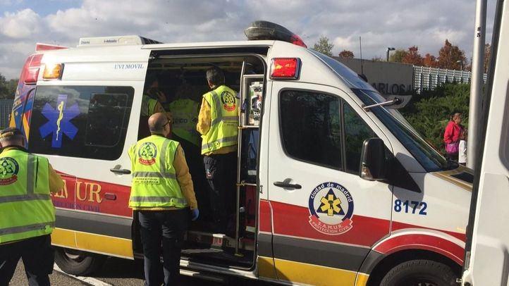 Atropello en Fuencarral: una mujer, en estado grave