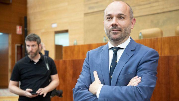 Juan Trinidad, tras ser elegido nuevo presidente de la Asamblea de Madrid.