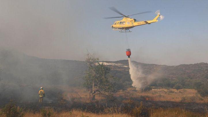 Controlado el incendio de Navalafuente, que deja más de 20 hectáreas quemadas