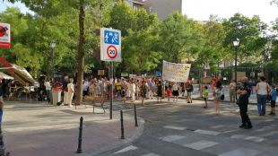 Los vecinos de Chamberí piden que no regresen los coches a la calle Galileo