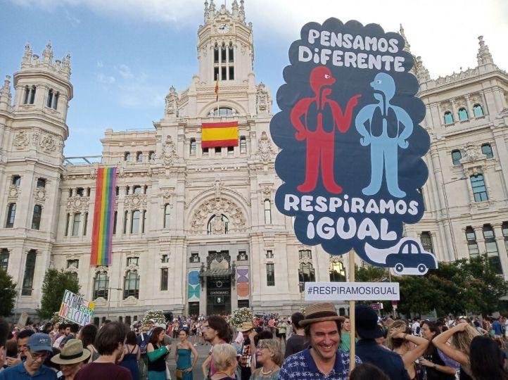 Manifestación en defensa de Madrid Central.