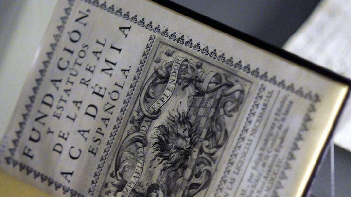 Expo 300 años de la RAE: Estatutos de la Academia en su Fundación, en una foto de archivo.