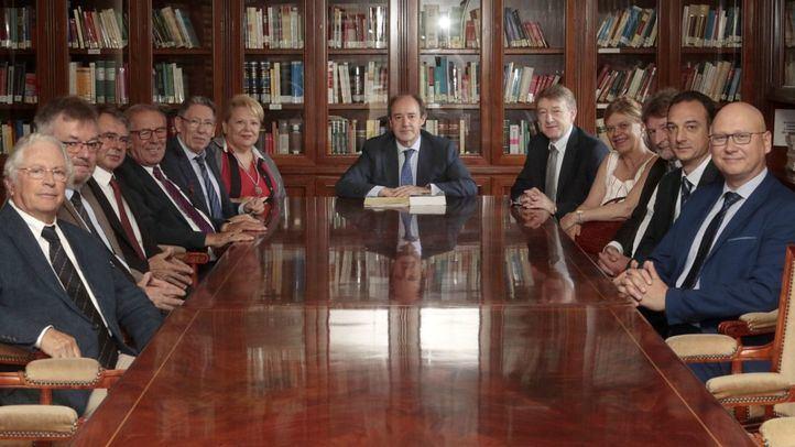 El presidente del TSJM recibe a la delegación de Euro Expert