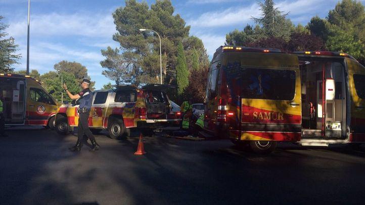 Fallece un motorista al chocar contra un semáforo en Moncloa