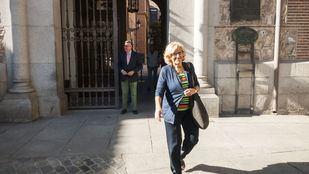 Manuela Carmena el día que renunció a su acta como concejal.