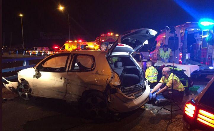Una colisión deja cinco heridos en Villa de Vallecas