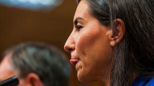 Rocío Monasterio, en la rueda de prensa ofrecida esta tarde en la Asamblea para valorar el pacto entre PP y Ciudadanos.