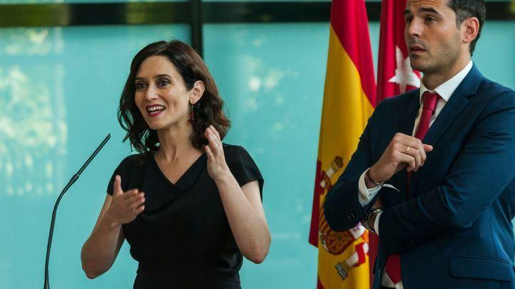 Isabel Díaz Ayuso e Ignacio Aguado han presentado este lunes el acuerdo con el que quieren gobernar en la Comunidad de Madrid.