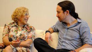 Manuela Carmena y Pablo Iglesias, en una imagen de archivo.
