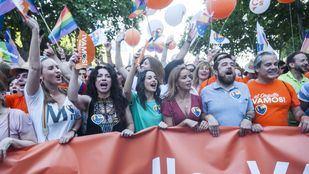 Imágenes de Ines Arrimadas del pasado sábado en la manifestación del Orgullo Gay