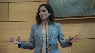 Isabel Díaz Ayuso no ha podido presentarse a la investidura en esta primera ocasión por el bloqueo mutuo entre Ciudadanos y Vox.