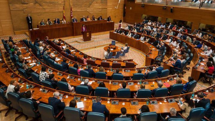 Pleno de investidura sin candidato en la Asamblea de Madrid