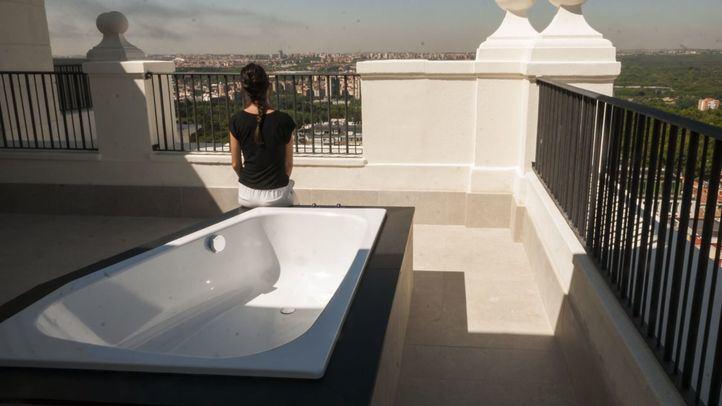 Vistas de Madrid desde la terraza de una de las habitaciones.