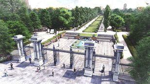 Recreación del futuro Paseo de Méjico de El Retiro, que ha empezado su remodelación