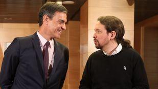 Pedro Sánchez y Pablo Iglesias, en una de las reuniones.