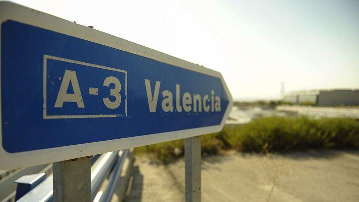 Rotonda de salida en el Ensanche de Vallecas hacia la A-3.