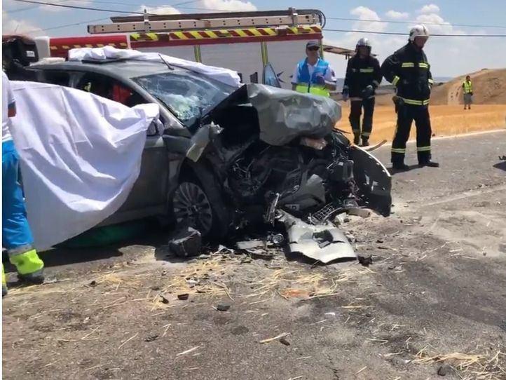 Un choque frontal en Daganzo de Arriba deja cuatro heridos, una grave