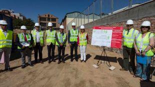 Visita a las obras del nuevo centro de salud en La Guindalera.