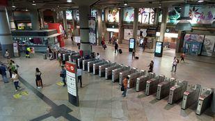 Vestíbulo de la estación de Atocha, durante la jornada de huelga.