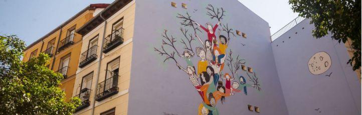 Un mural recuerda a las víctimas de la violencia de género