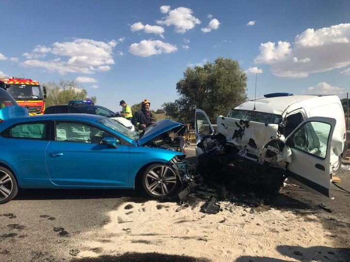 Accidente en la M-404 a la altura de Batres.