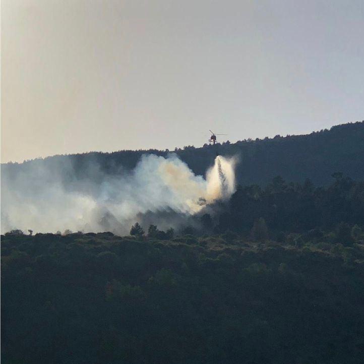 Controlado el incendio en Robregordo y La Acebeda