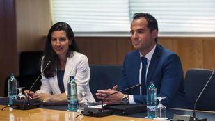 Reunión de PP, Cs y Vox en la Asamblea de Madrid.