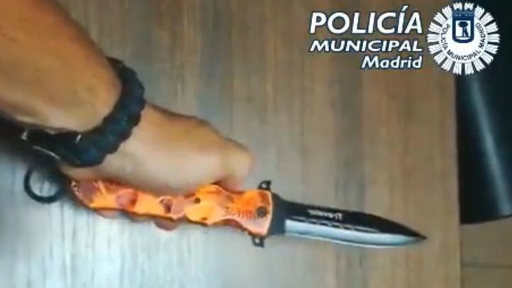 Navaja intervenida por la Policía Municipal de Madrid en las fiestas de El Carmen