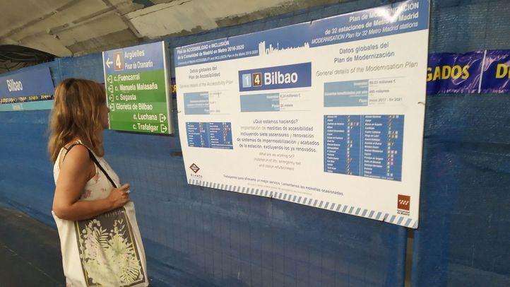 Los andenes de la Línea 4 de Metro permanecerán cerrados todo el verano en la estación de Bilbao.