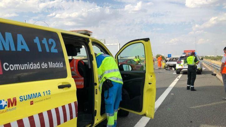 En uno de los coches implicados viajaban estos dos octogenarios.